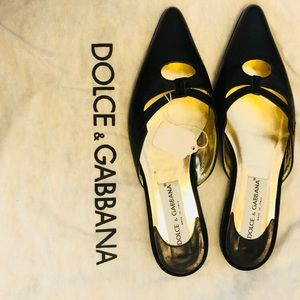 Dolce & Gabbana Leather Black Mule